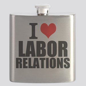 I Love Labor Relations Flask